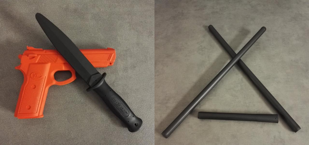 couteau baton matériel de Krav Maga
